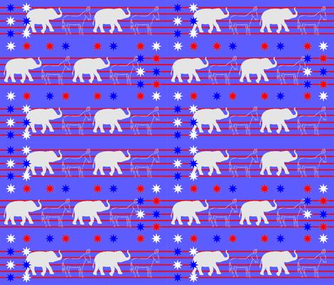 Political_Donkeys_and_Elephants fabric by rachd on Spoonflower - custom fabric