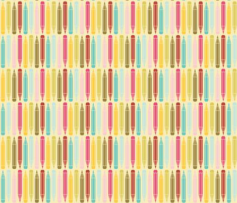 just_pencils_multi fabric by natasha_k_ on Spoonflower - custom fabric