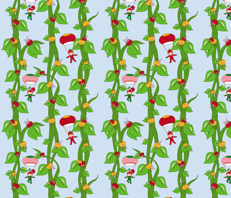 Bean children fabric by rhubarbdesign on Spoonflower - custom fabric