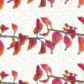 Autumn Leaf Raindrops