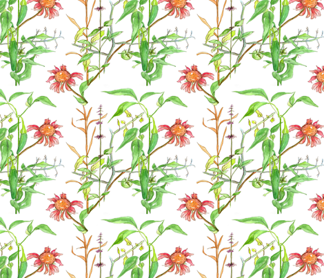 Jalapenos and Flowers  fabric by countrygarden on Spoonflower - custom fabric