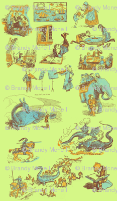 The Reluctant Dragon Toile
