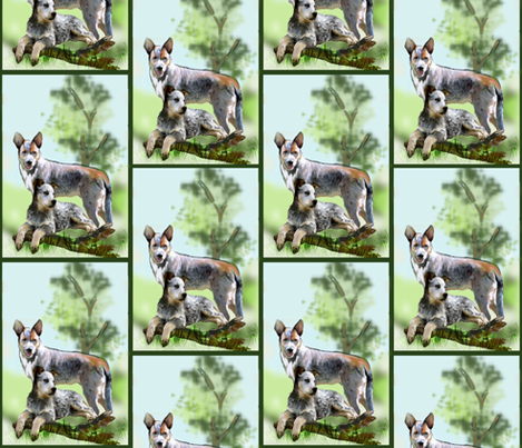 Cattle dog fabric fabric by dogdaze_ on Spoonflower - custom fabric