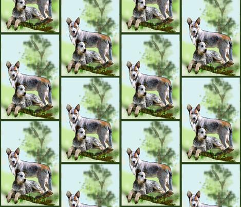 Cattle dog fabric fabric by dogdaze_ on Spoonflower - custom fabric