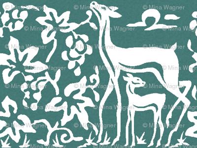 wooden tjaps grapes & deer close - textured minagreen-176