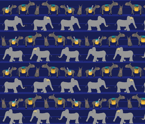 Excavation_Donkeys_and_Elephants_stripe fabric by murex_textile_designs on Spoonflower - custom fabric