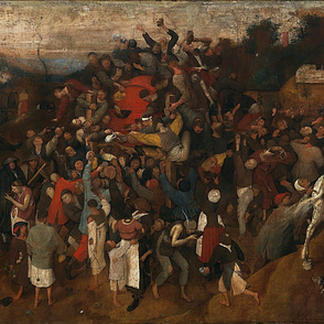 The Wine of Saint Martins Day 1675 by Pieter Bruegel