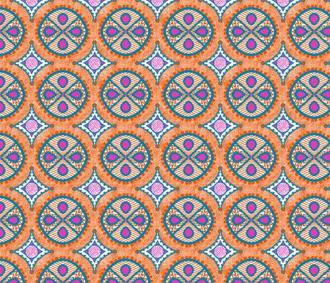 Beach Hat: Festive Dots fabric by tallulahdahling on Spoonflower - custom fabric
