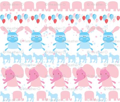 Elephant and Donkey Party