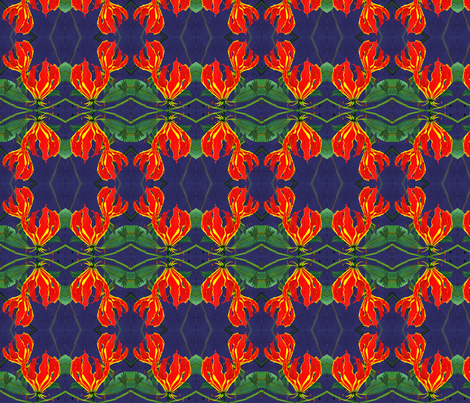 Flame_lily fabric by art_on_fabric on Spoonflower - custom fabric