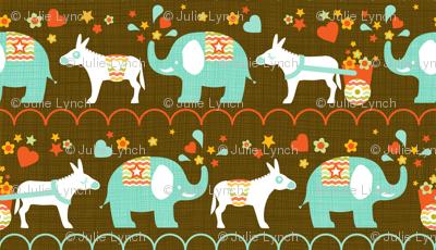 Elephant and donkey parade