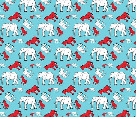 elephant_donkey1 fabric by julene on Spoonflower - custom fabric