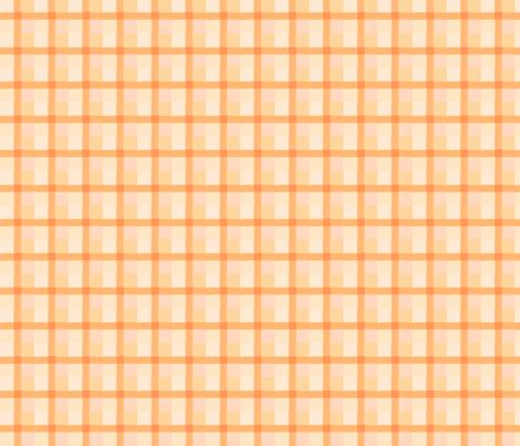 peach checks 13 fabric by mojiarts on Spoonflower - custom fabric