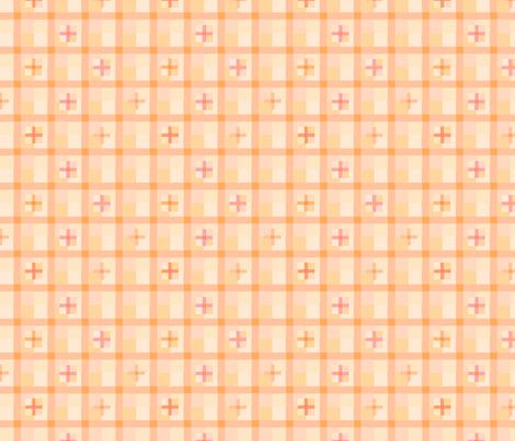 peach checks 15 fabric by mojiarts on Spoonflower - custom fabric