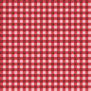 brick red pink gingham