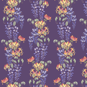 Wisteria_and_honeysuckle_repeat_-_purple