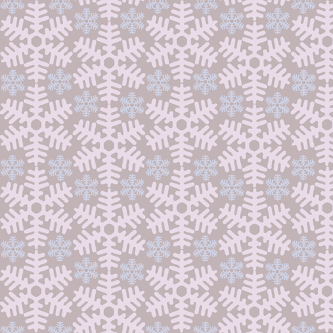beneath a blanket of snow...(sugared) fabric by wednesdaysgirl on Spoonflower - custom fabric