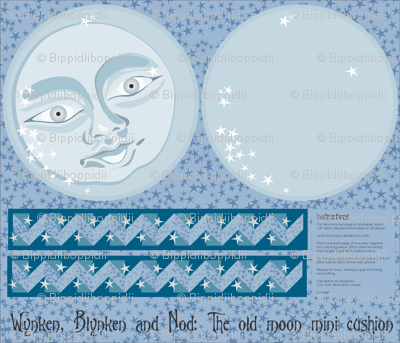 The old moon mini-cushion