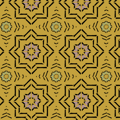 Moroccan Block Print (Mustard) fabric by david_kent_collections on Spoonflower - custom fabric