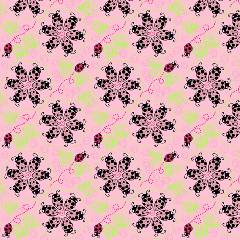 Don't Bug Me Swirl fabric by kari_d on Spoonflower - custom fabric