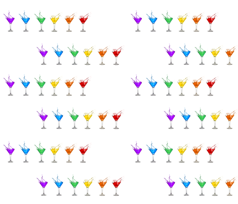 Rainbow Martinis fabric by lsfvball on Spoonflower - custom fabric
