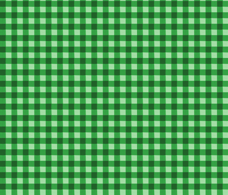 green gingham 2 fabric by mojiarts on Spoonflower - custom fabric
