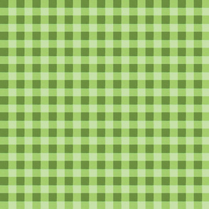 olive green gingham