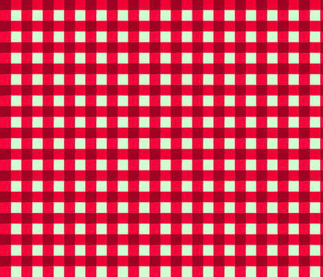 xmas red gingham fabric by mojiarts on Spoonflower - custom fabric