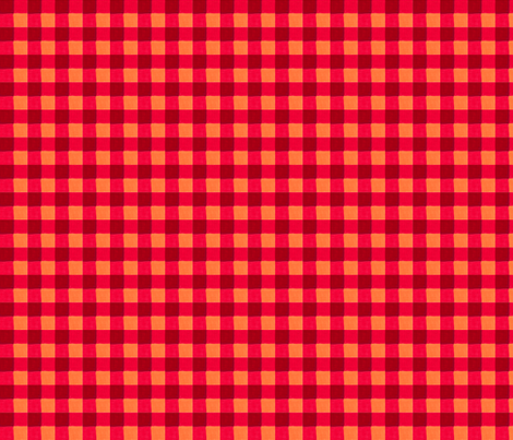 red gingham 4 fabric by mojiarts on Spoonflower - custom fabric