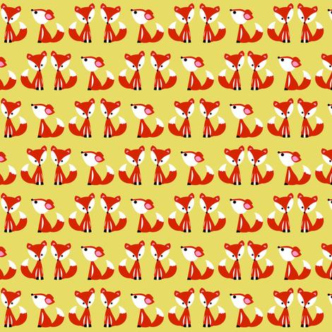 foxyellow fabric by natitys on Spoonflower - custom fabric