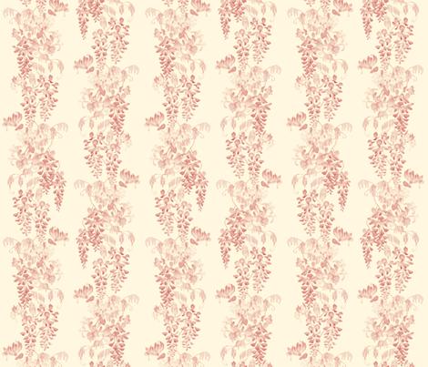 Wisteria & Honeysuckle - sunrise fabric by gail_mcneillie on Spoonflower - custom fabric