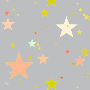 Starry Night, grey