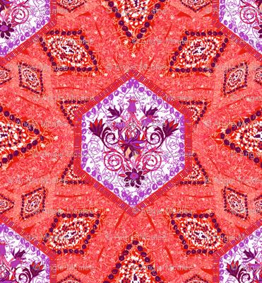 Persian African in purple & orange