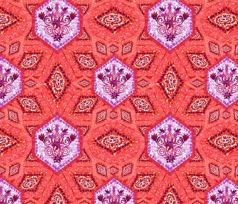 Persian African in purple & orange fabric by angie_mac on Spoonflower - custom fabric