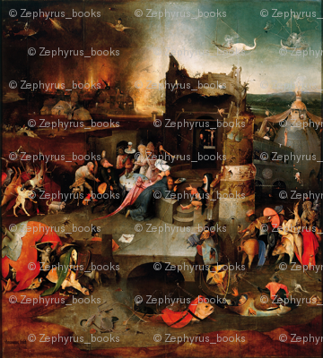 The Temptation of St Anthony by Hieronymus Bosch - Center Panel
