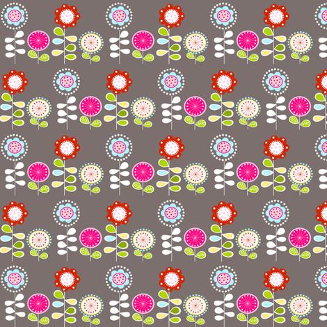 Foxy Flowers fabric by natitys on Spoonflower - custom fabric