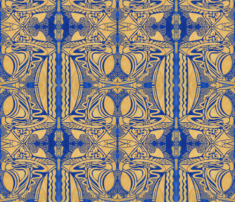 The Blue Doodle fabric by whimzwhirled on Spoonflower - custom fabric