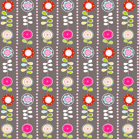 Stripey Flowers fabric by natitys on Spoonflower - custom fabric