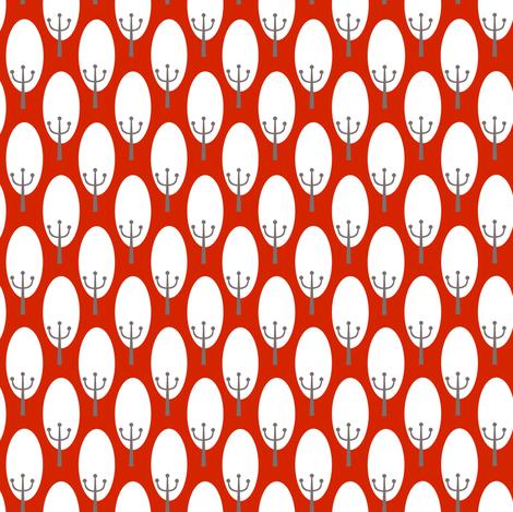 Rust Trees fabric by natitys on Spoonflower - custom fabric