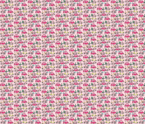 Pink_Zoom_Zoom Zoom fabric by evelynrosedesigns on Spoonflower - custom fabric