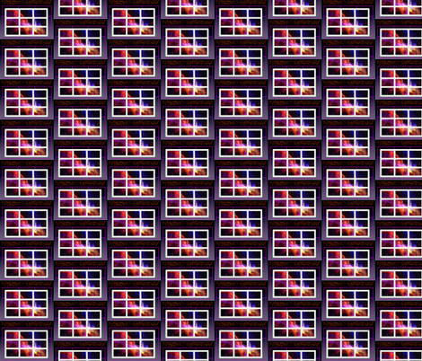 space_grid fabric by walkwithmagistudio on Spoonflower - custom fabric
