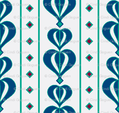 daisy tile too: blue petals