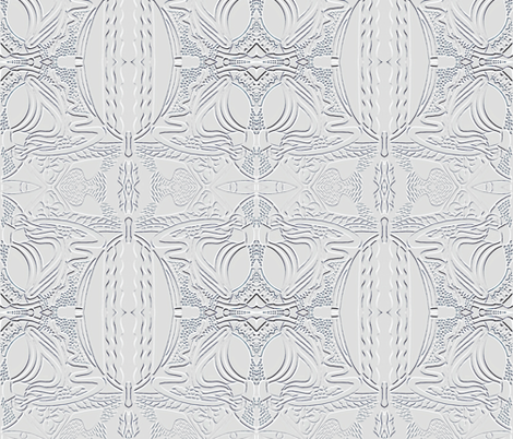 Faux Embossed Doodle fabric by whimzwhirled on Spoonflower - custom fabric
