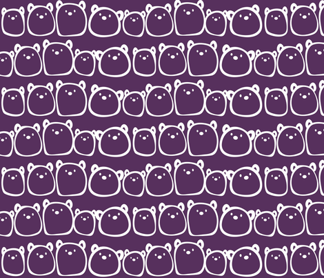 Gum_Bears_Purple fabric by theoberry on Spoonflower - custom fabric