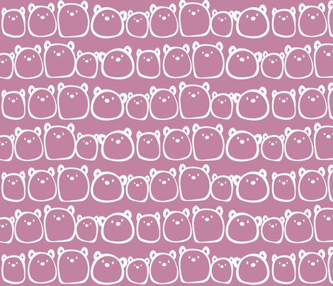 Gum Bears in Pink :) fabric by theoberry on Spoonflower - custom fabric