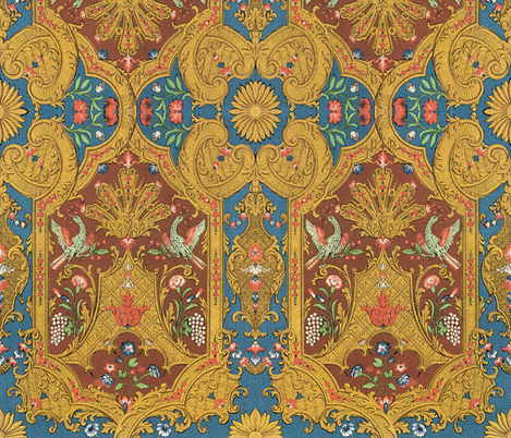 Phoenix Damask fabric by peacoquettedesigns on Spoonflower - custom fabric