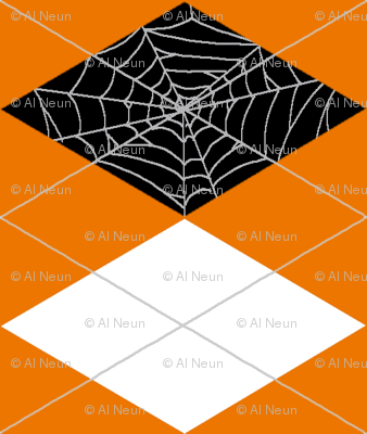 Spiderweb Argyle - Orange