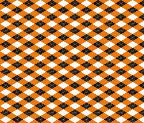 Spiderweb Argyle - Orange fabric by pi-ratical on Spoonflower - custom fabric