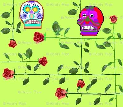 Skulls and Longstemmed Roses