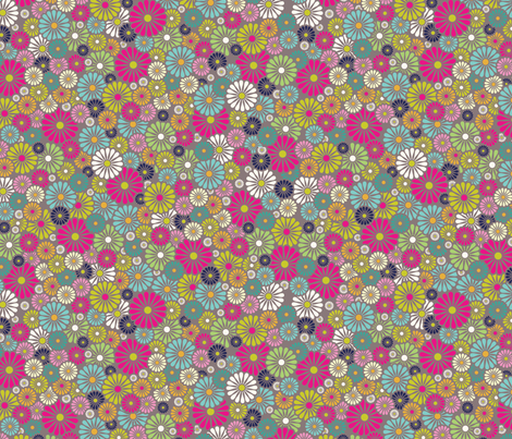 Deco Fashionista- Daisy fabric by cynthiafrenette on Spoonflower - custom fabric